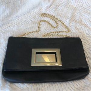 JustFab Black Clutch or shoulder purse